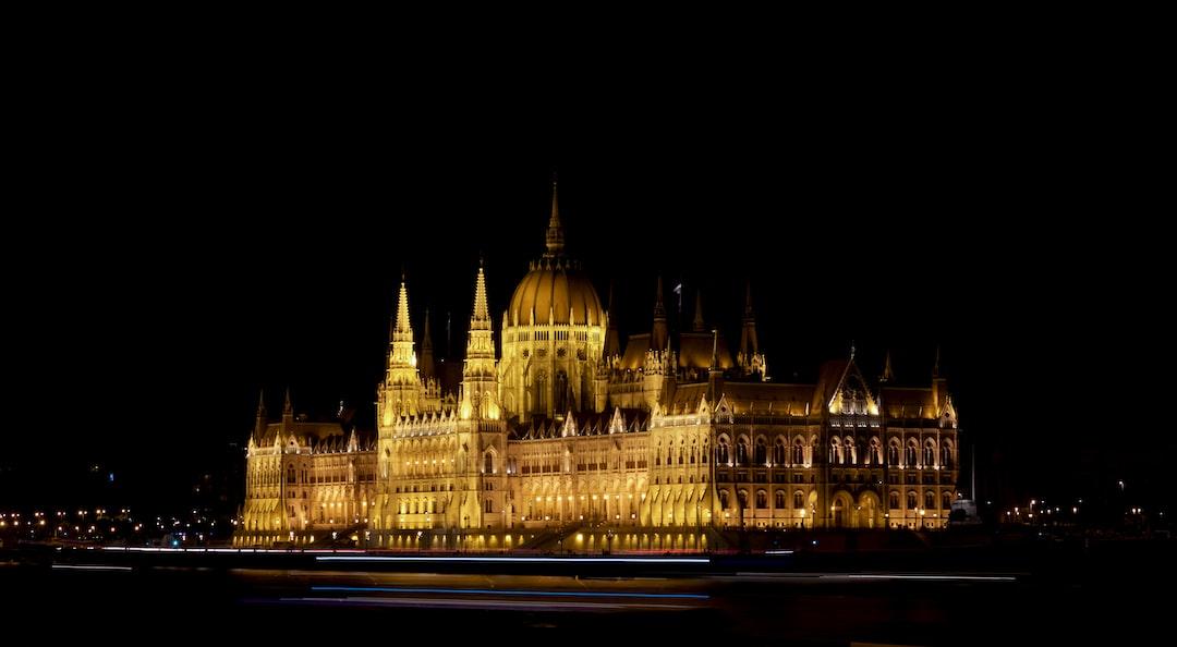 Hungarian Parliament Side Night Shot