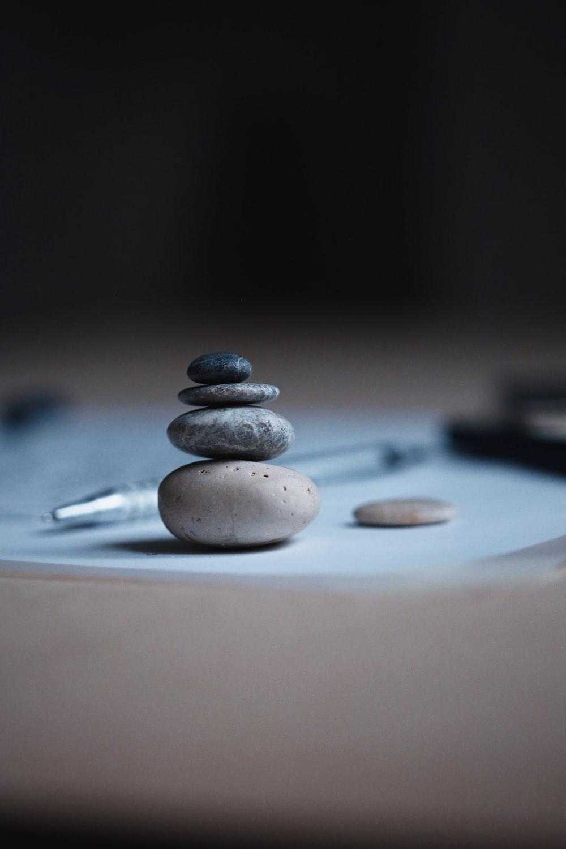 shallow focus photo of balance stones