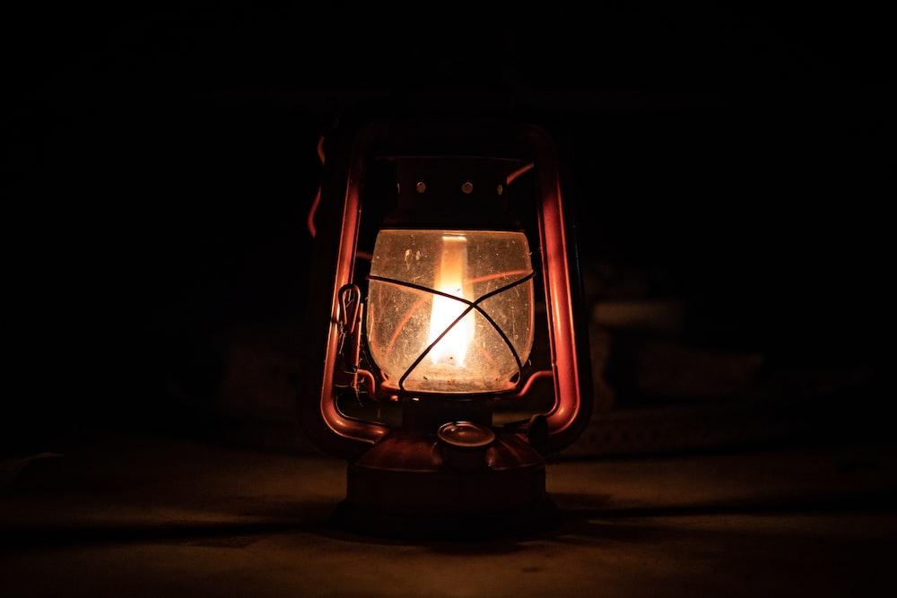 lighted lantern lamp