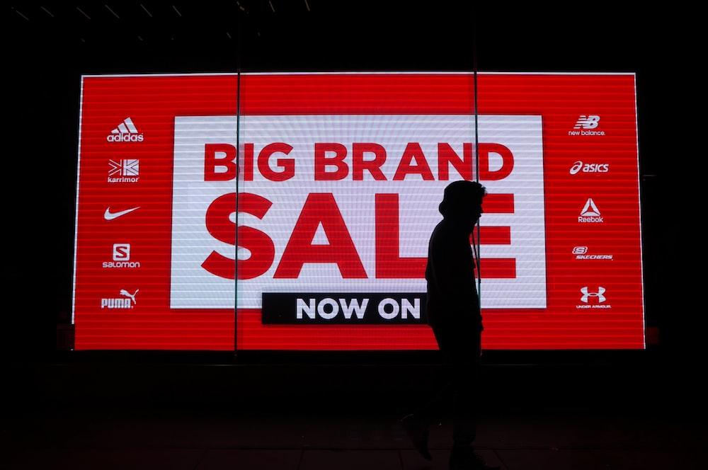 Big Brand Sale neon signage