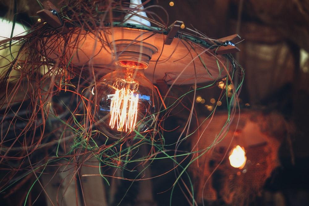 light bulb turned-on