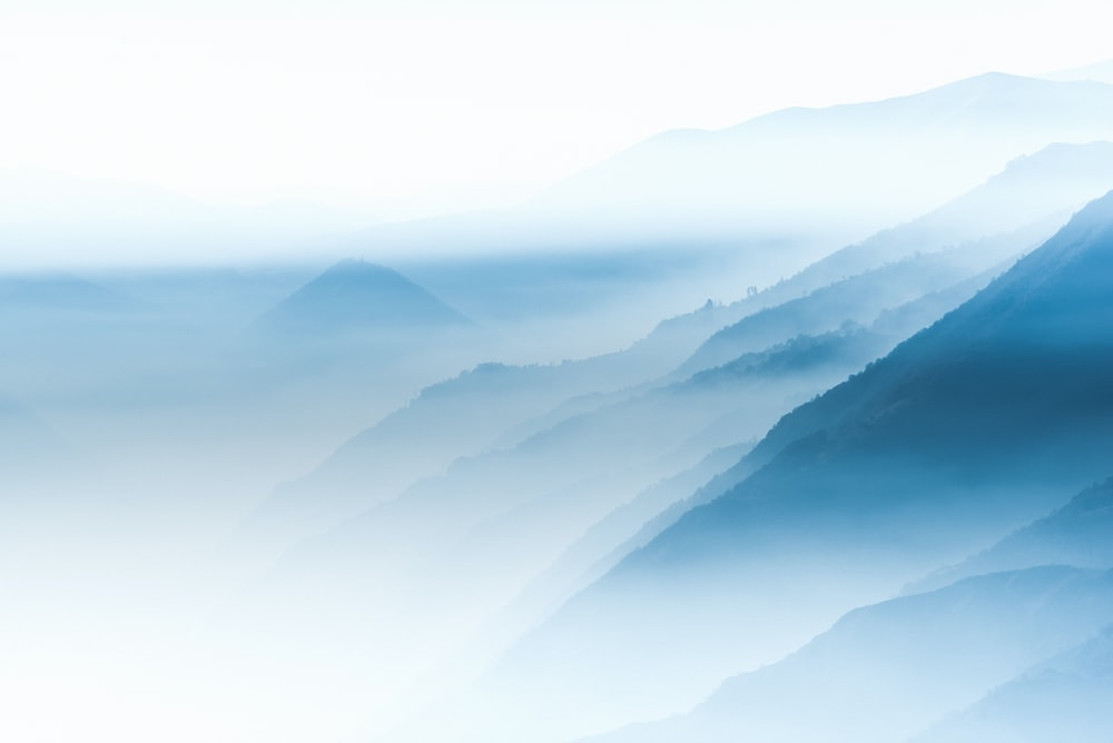 blue mountain and mist
