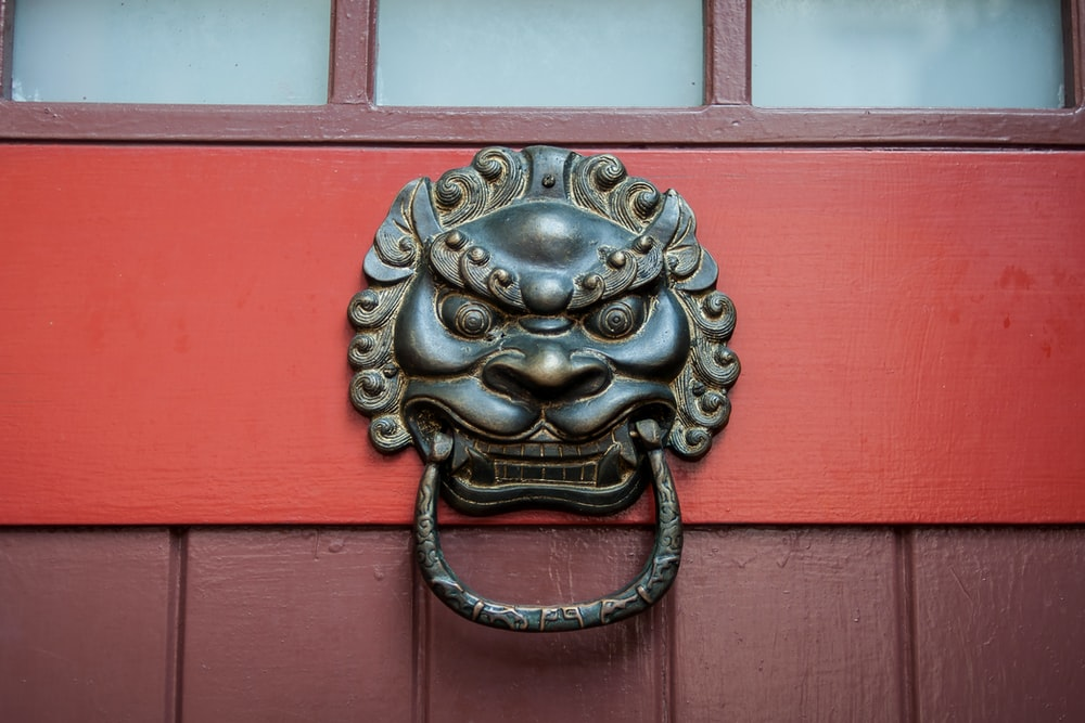 black dragon door knocker