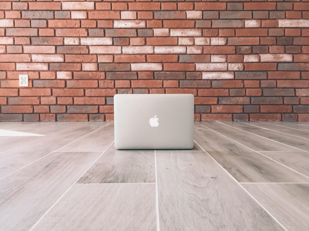 MacBook on floor