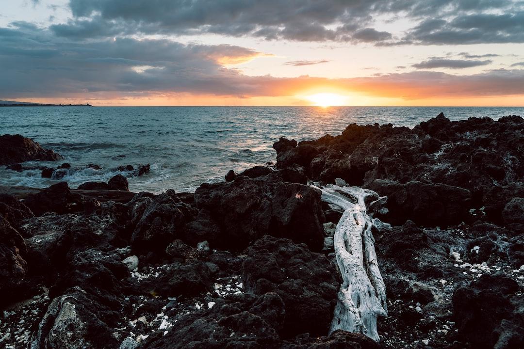 a beach on big island, hawaii