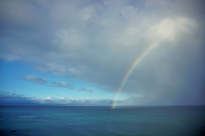 rainbow during daytime maui teams background