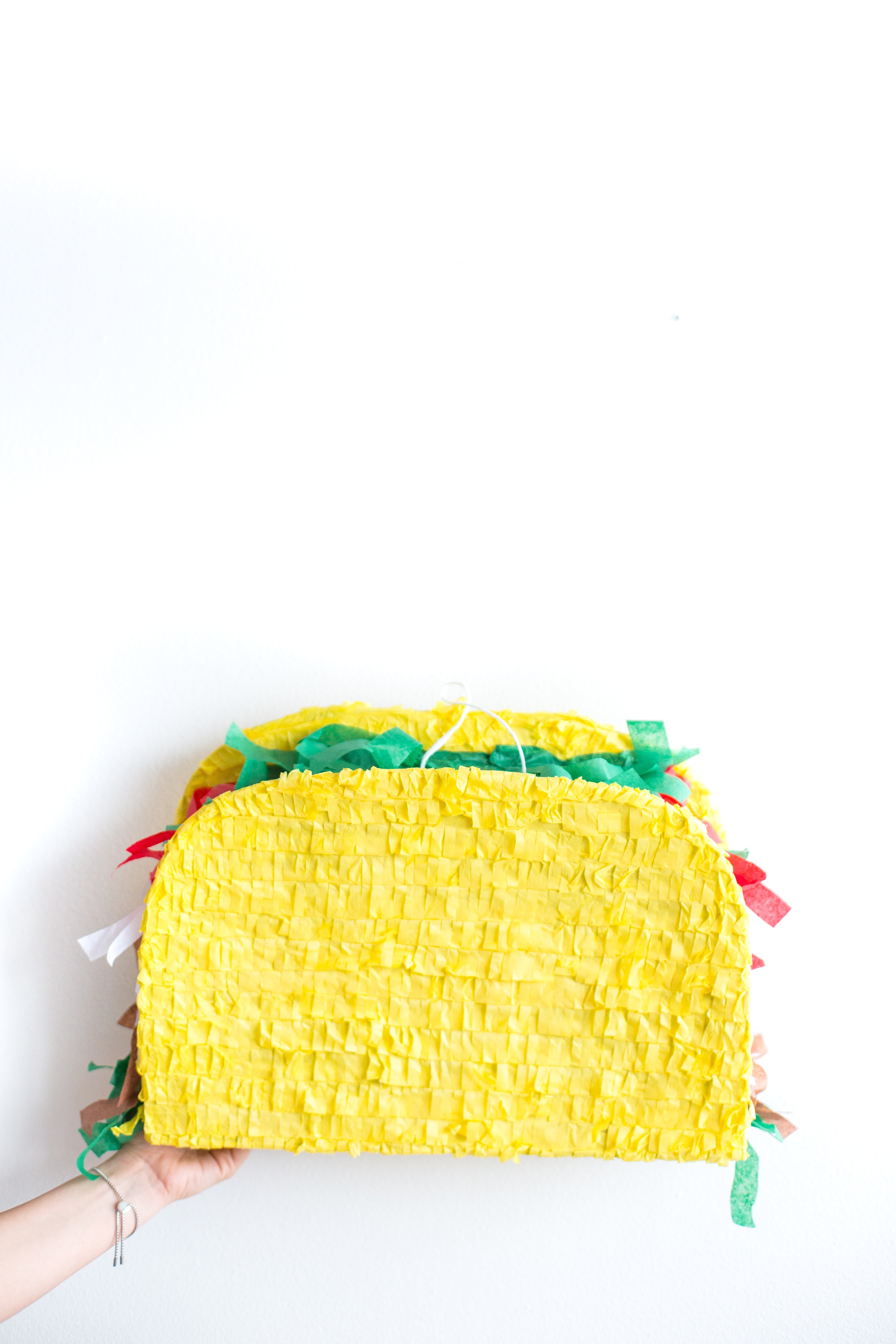 yellow and green knit cap