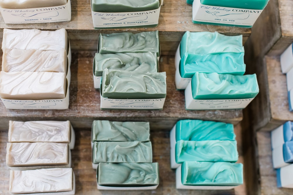 assorted bar soaps