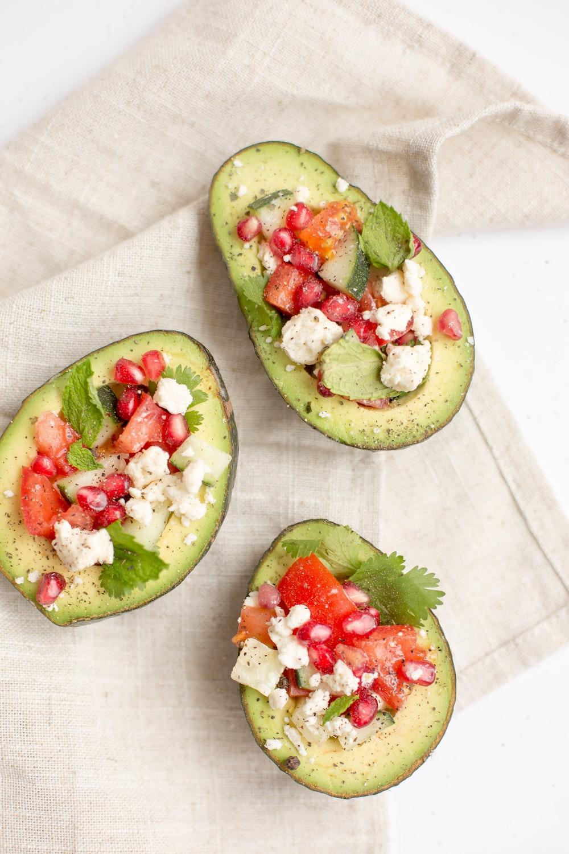 three avocado fruit desserts