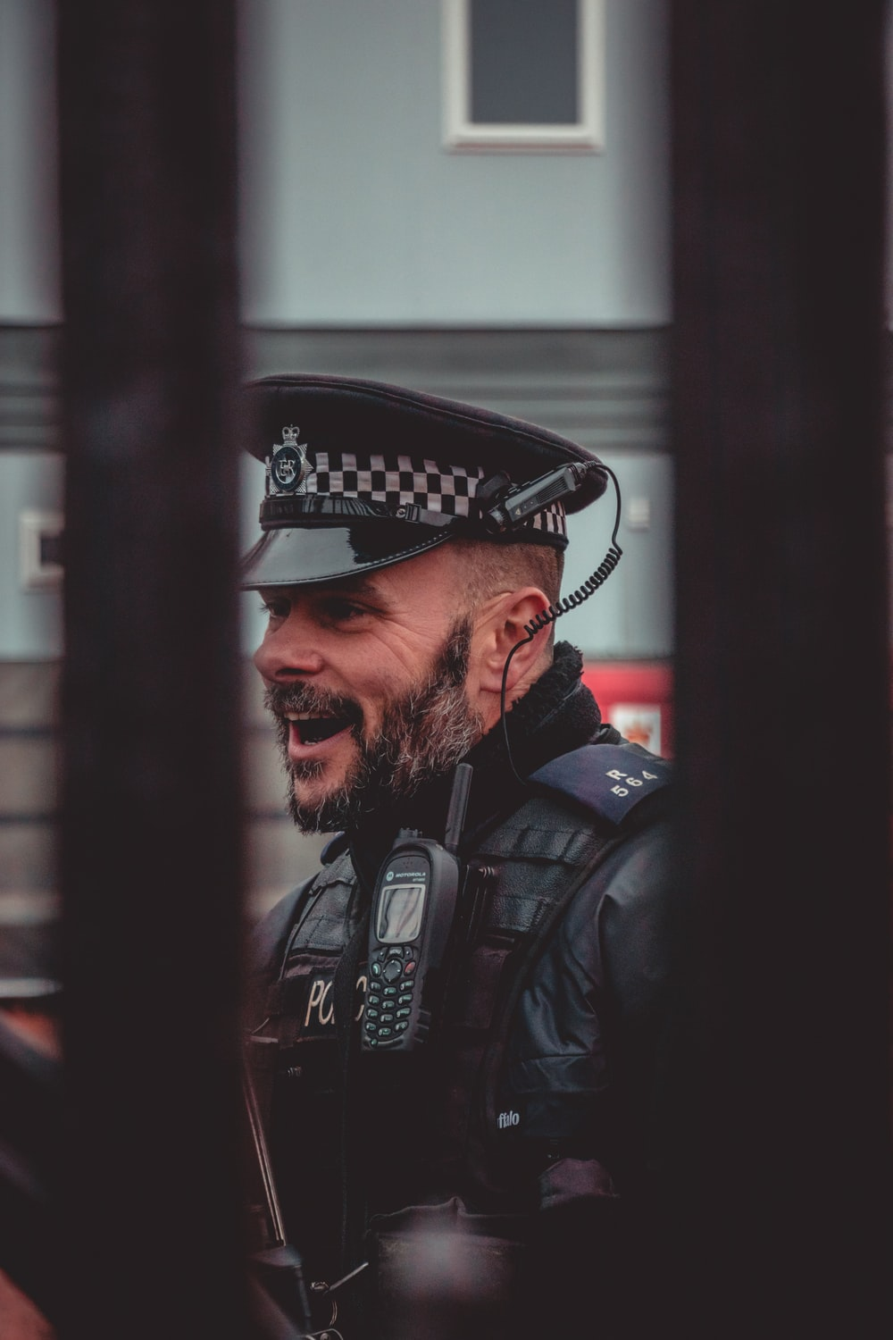 male officer smiling