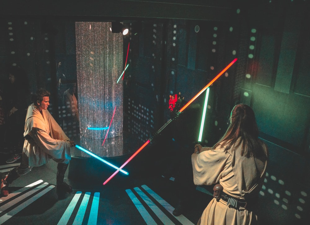 Obi and Qui-Gon putting the hurt on Darth Maul