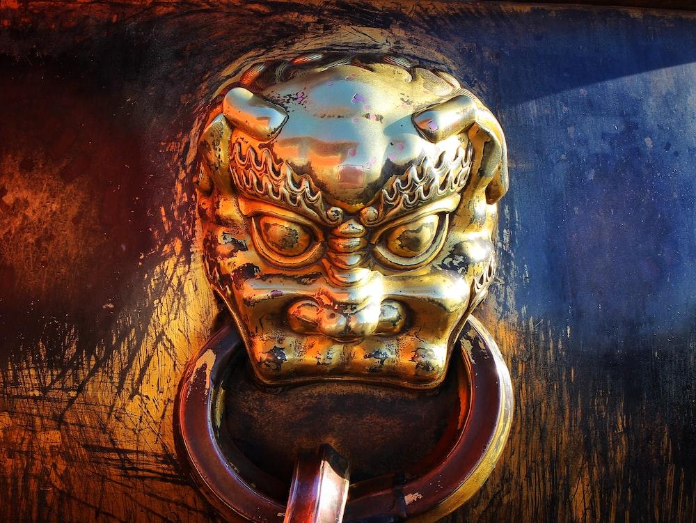 brass demon door knocker