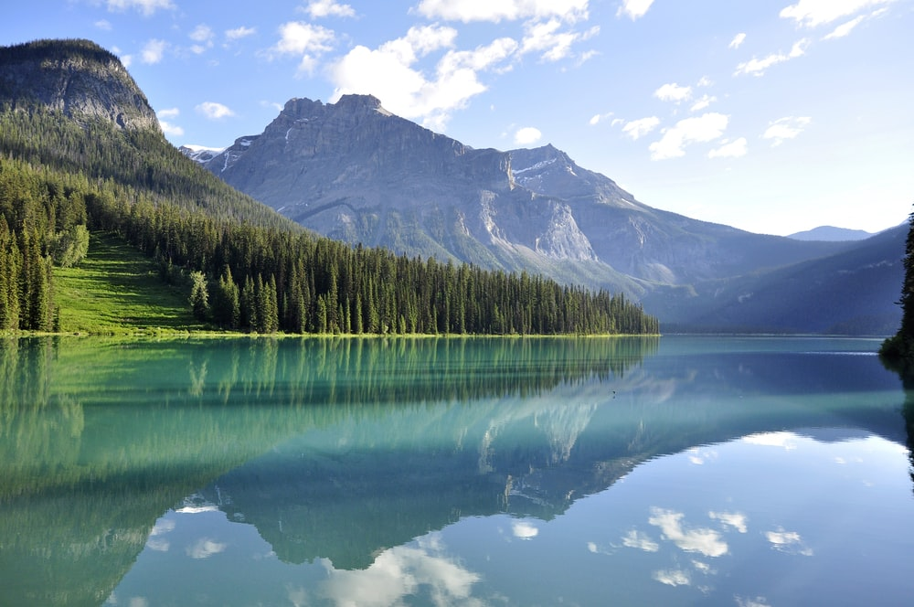 glacial lake surrounded by mountain in nature photography