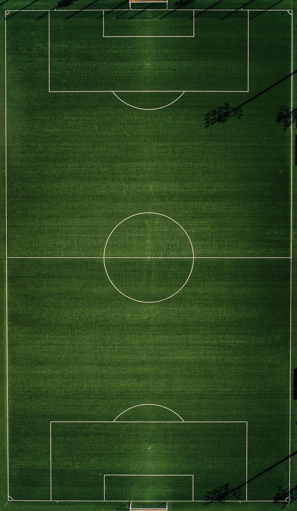 green sports court illustration