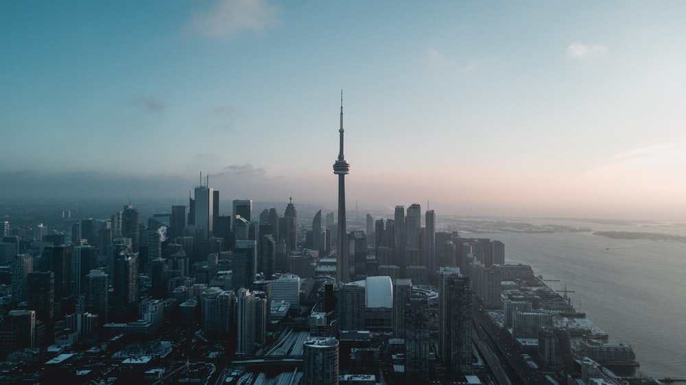 aerial photography of Toronto, Canada