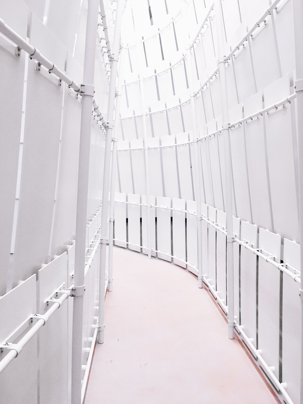 narrow pathway between enclosed area