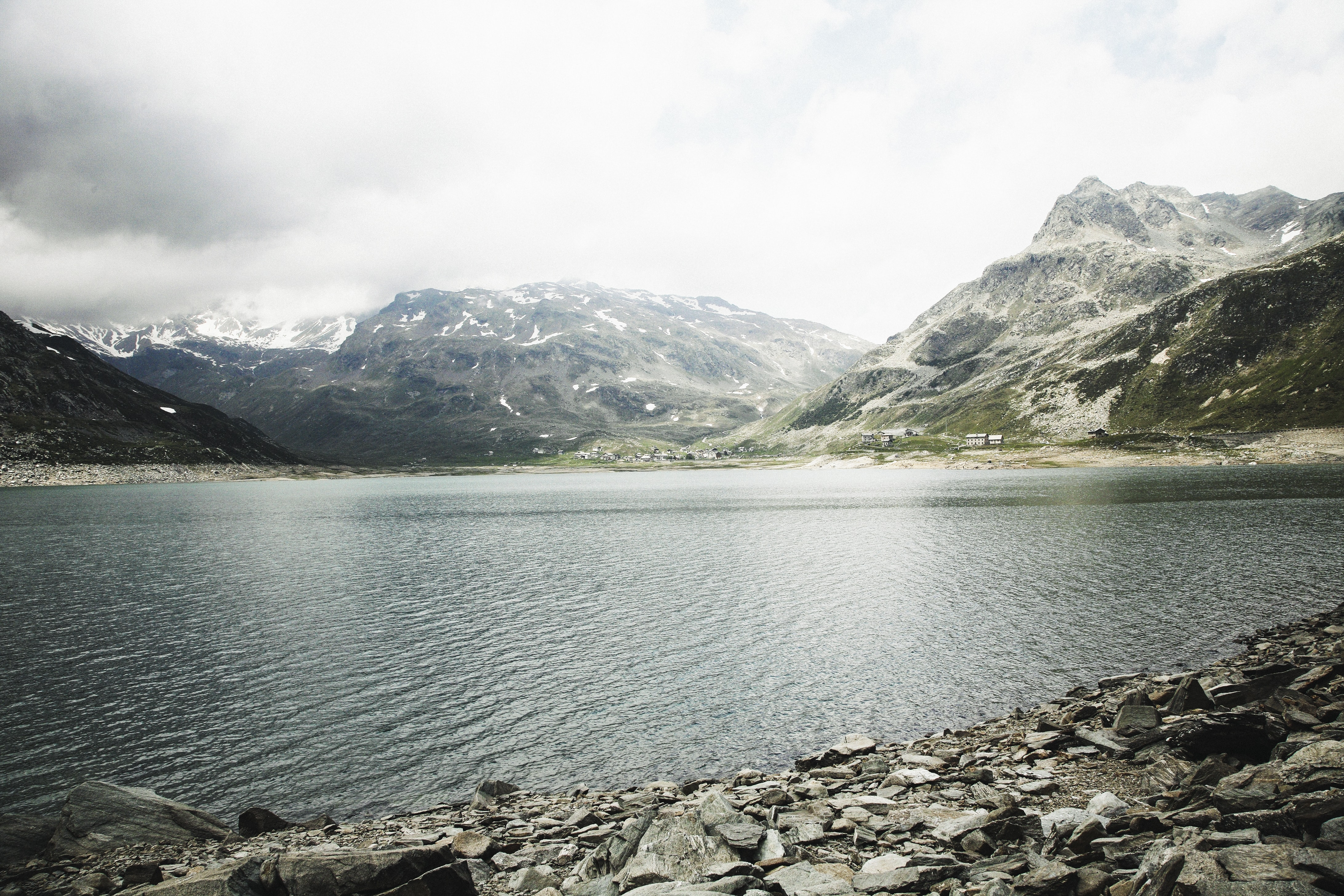 landscape photography of mountain and lake