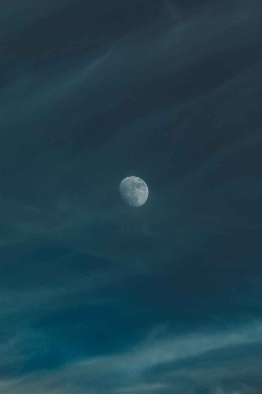 moon on gloomy sky