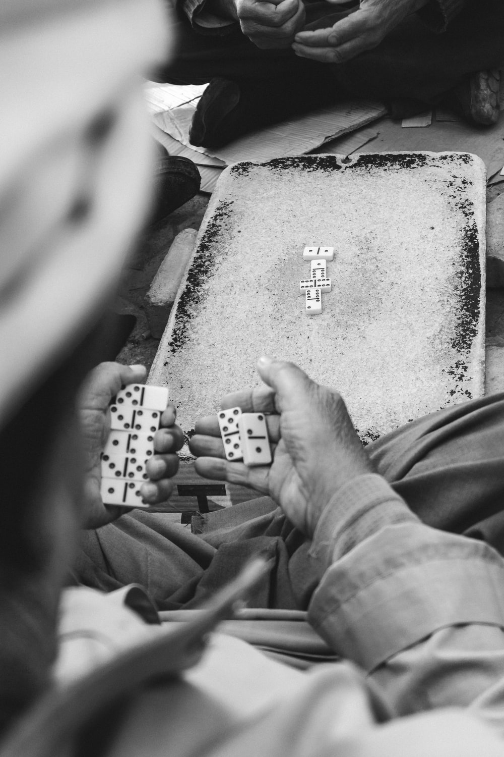 people playing domino