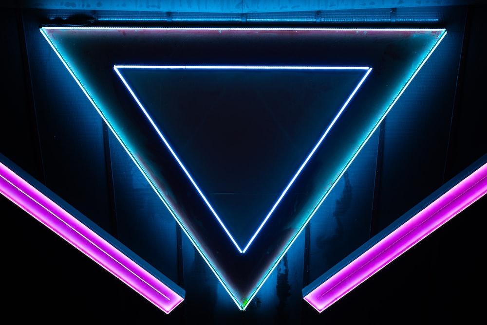 blue and purple LED lights