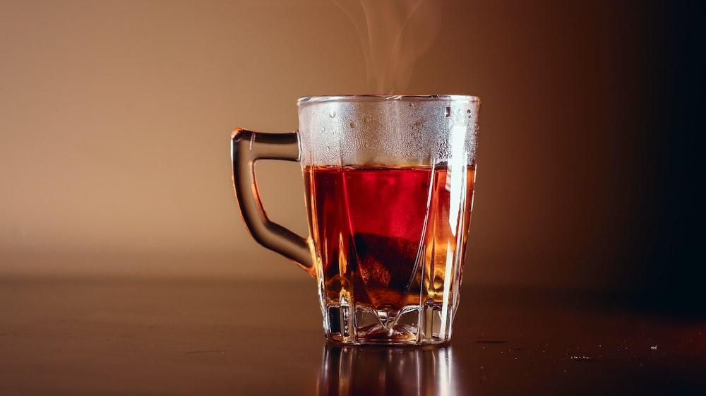 clear tea glass