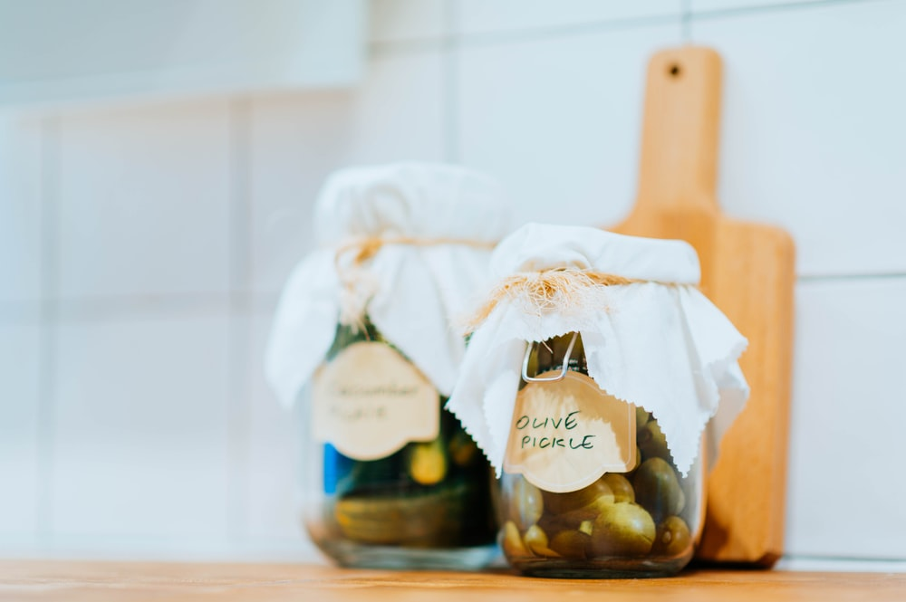 olive pickle jar