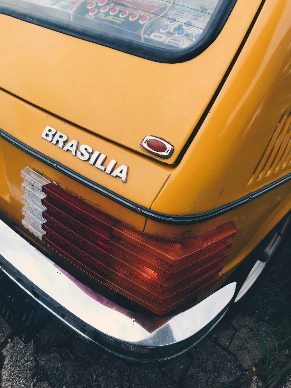 yellow Volkswagen Brasilia