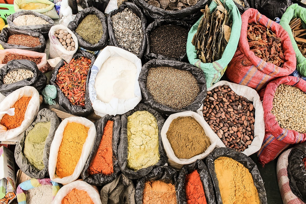 Spices used for cooking in Kerala