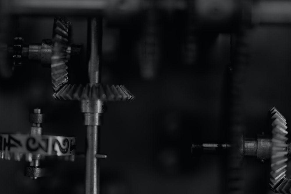 black and gray metal tool