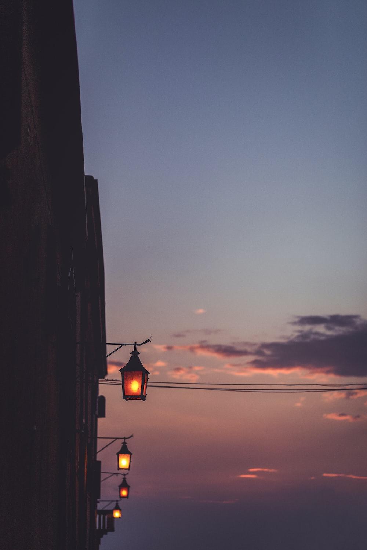 lighted lanterns during nighttie