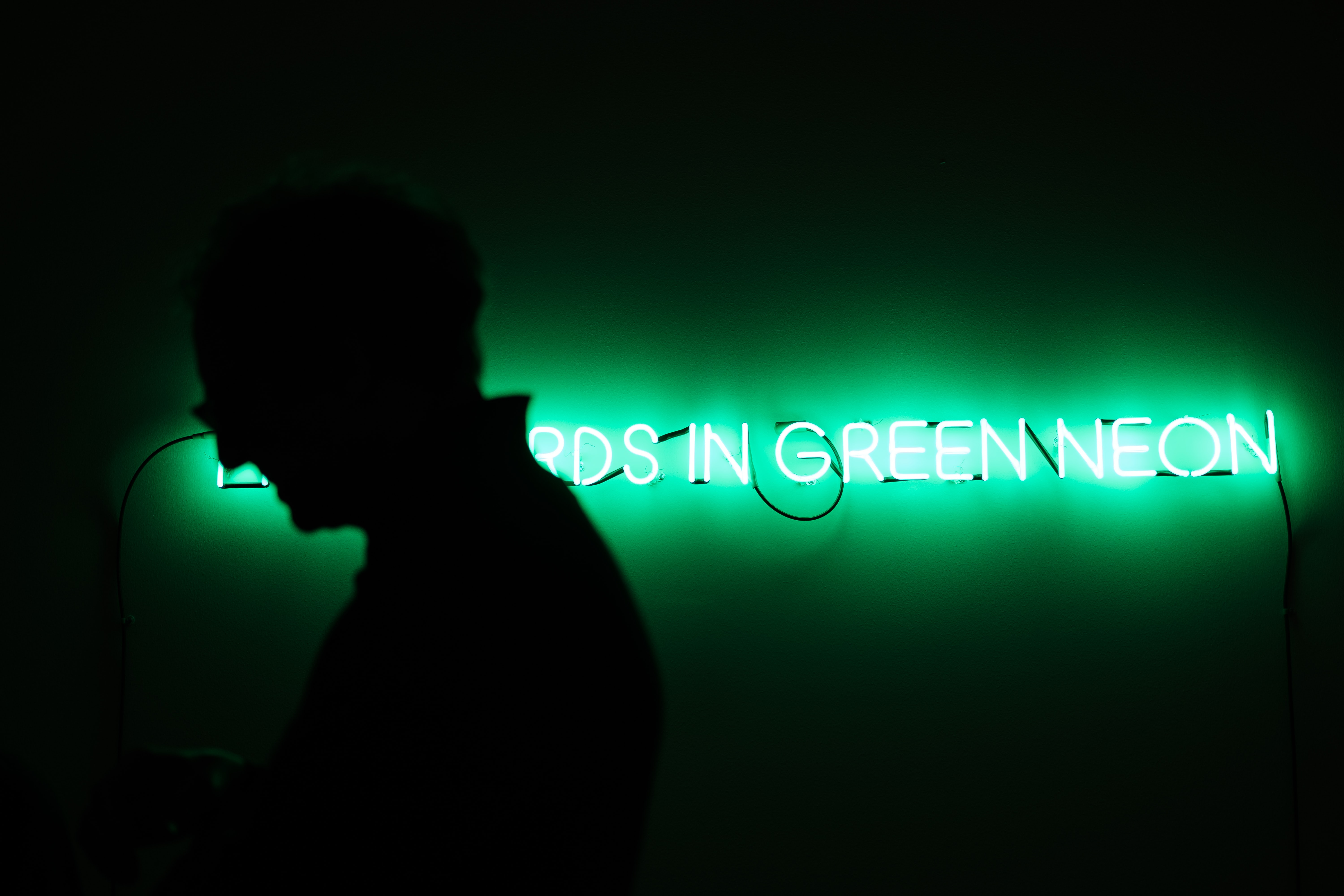 green and white LED light
