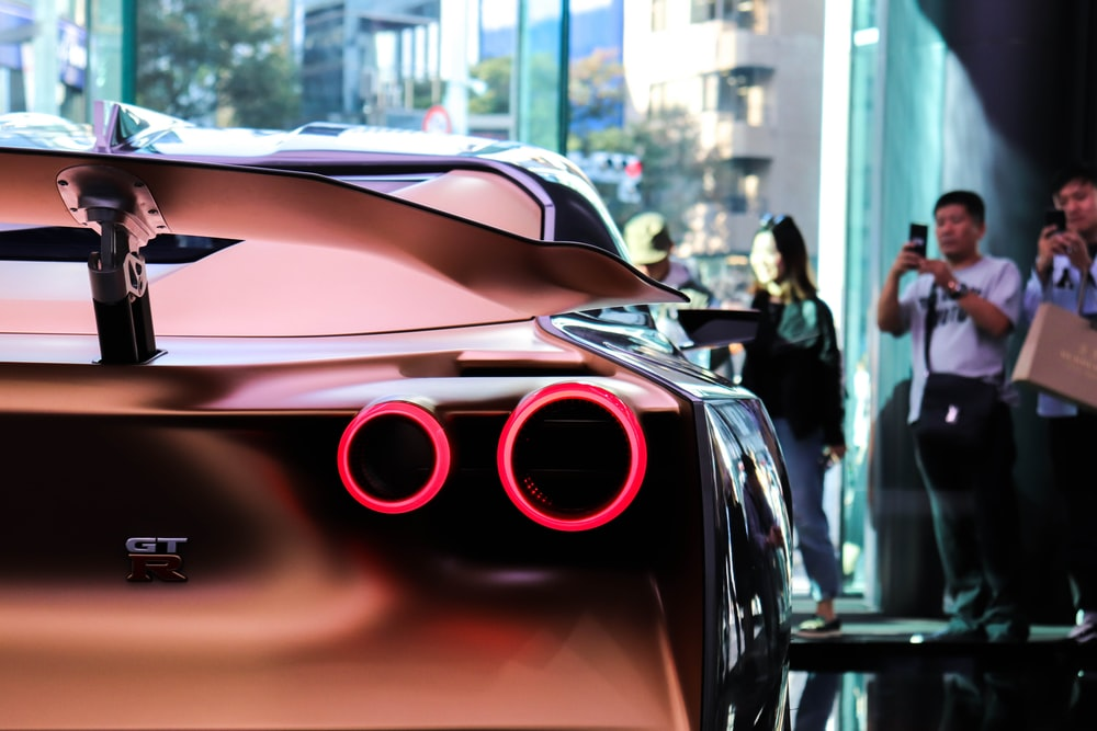 black GT sports car