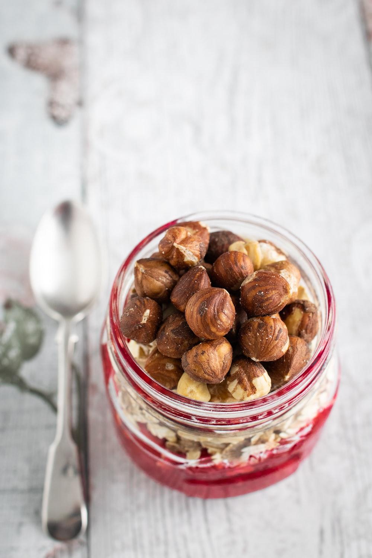 nuts in jar