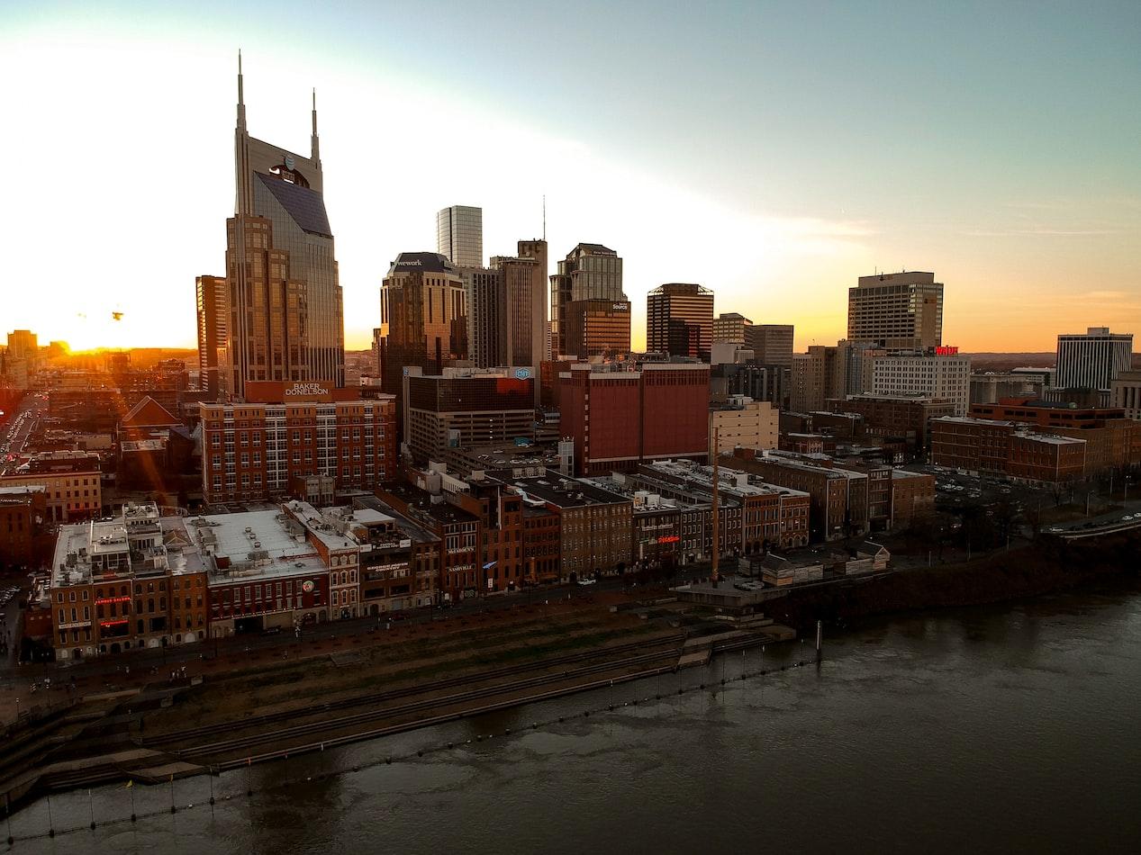 the Nashville, Tennessee skyline