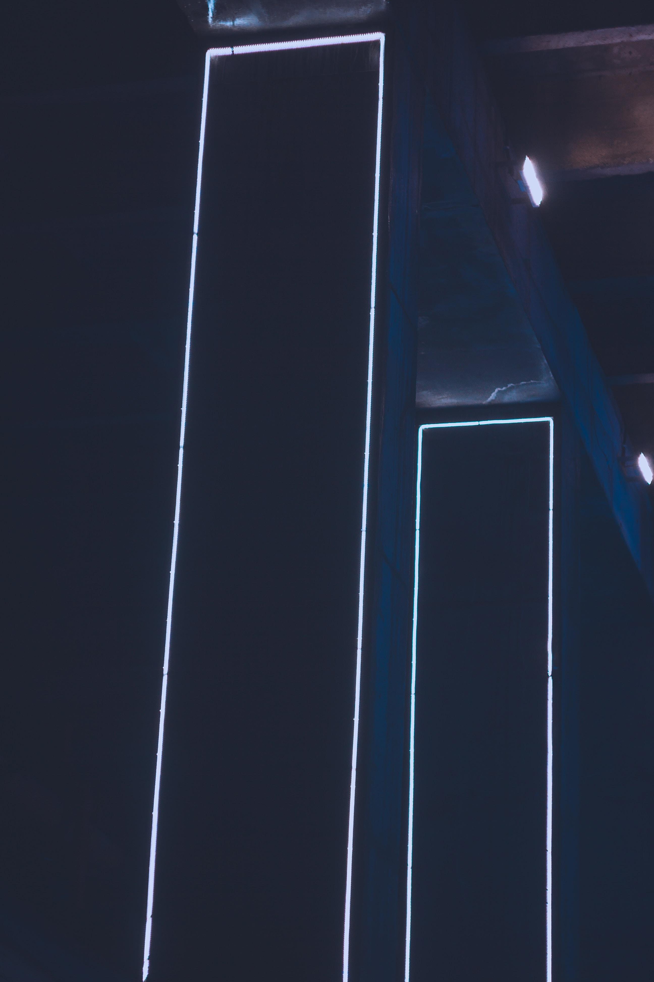 two black LED lights