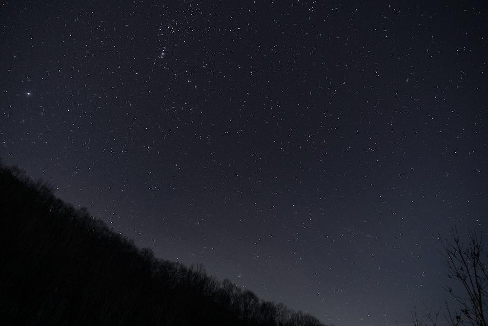 landscape photography of nebula