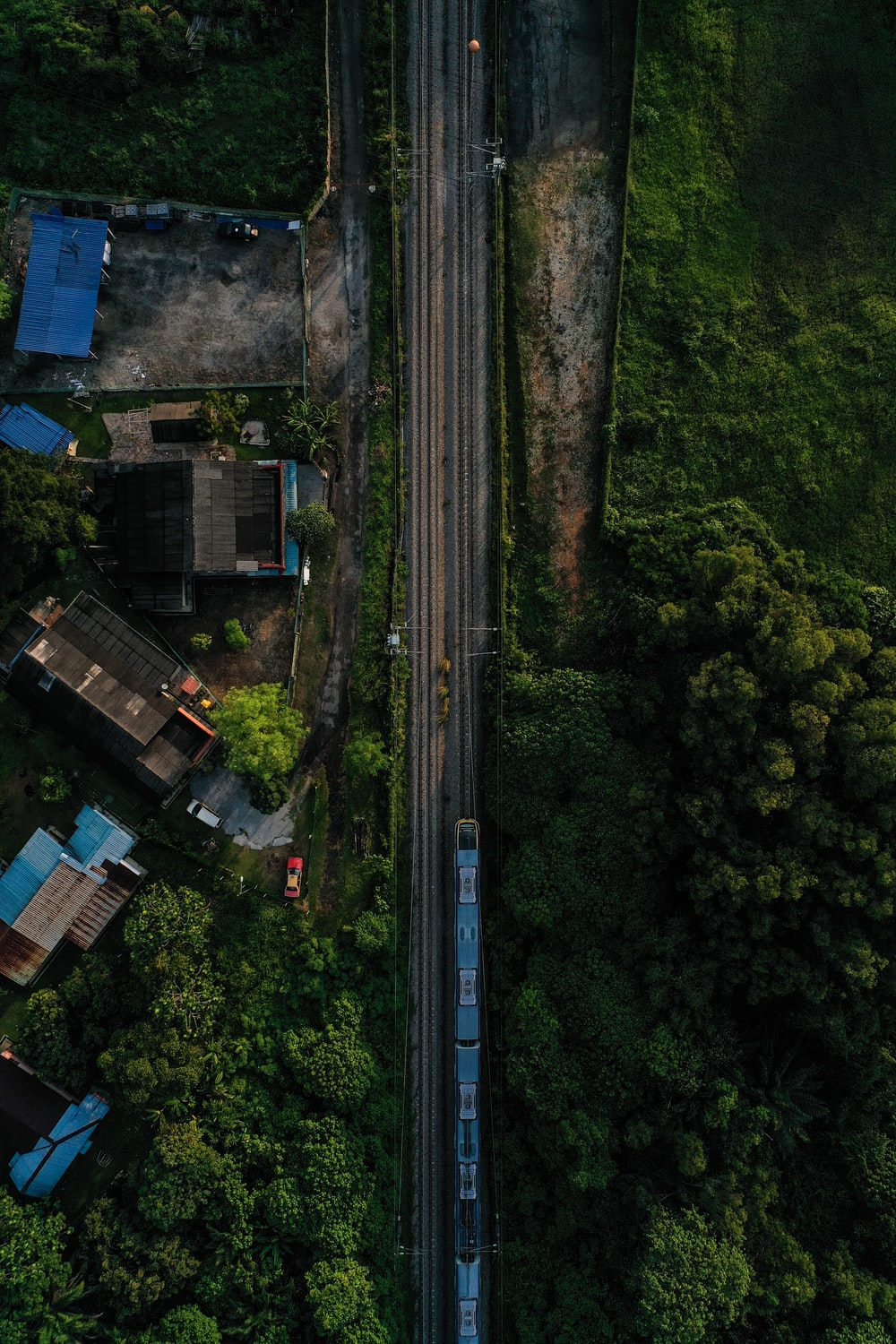 top view of railroad