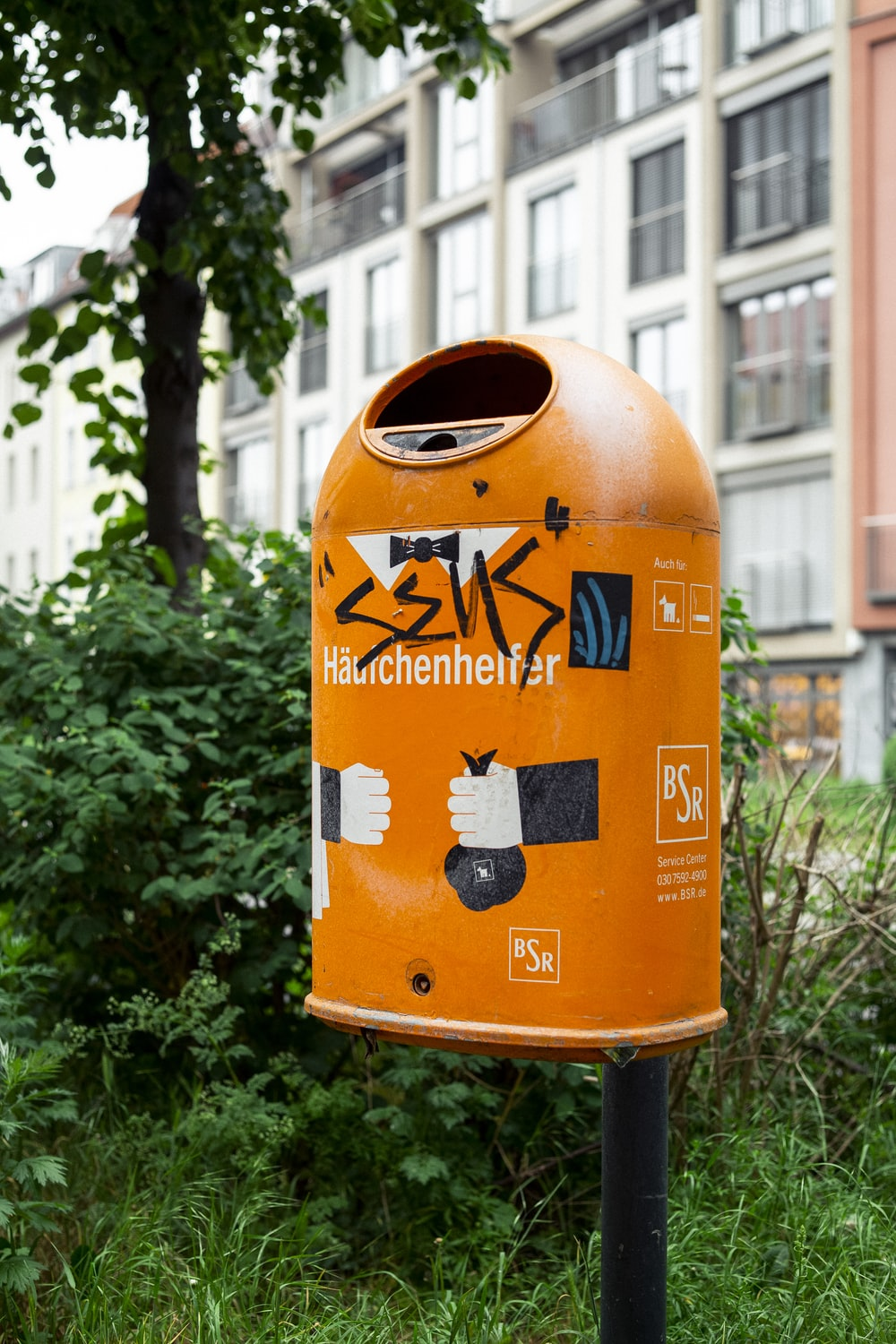 orange mail box