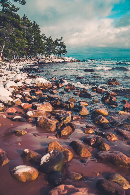 rocks near sea