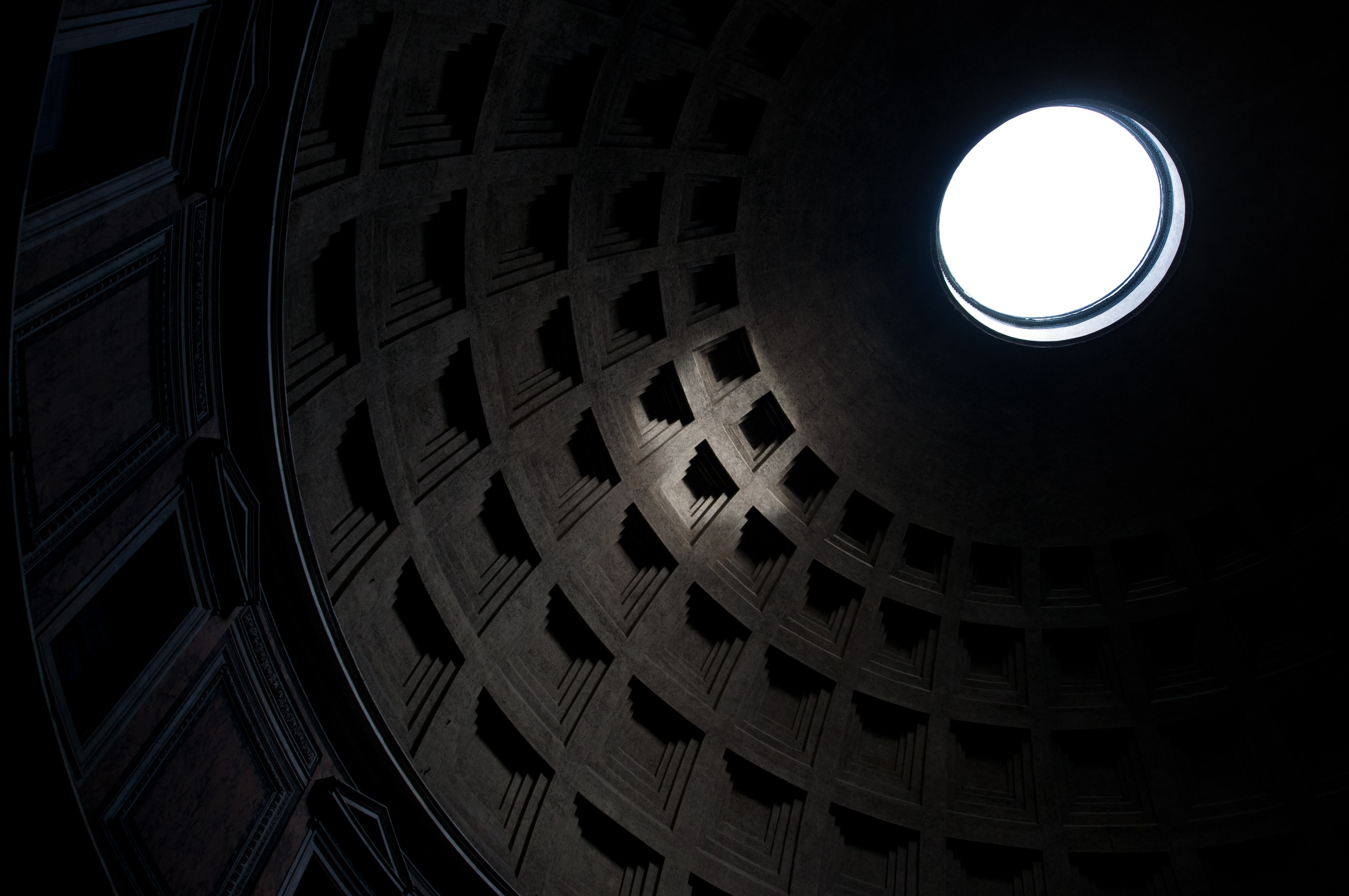 low-angle view of dome interior