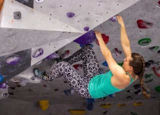 woman in wall climbing