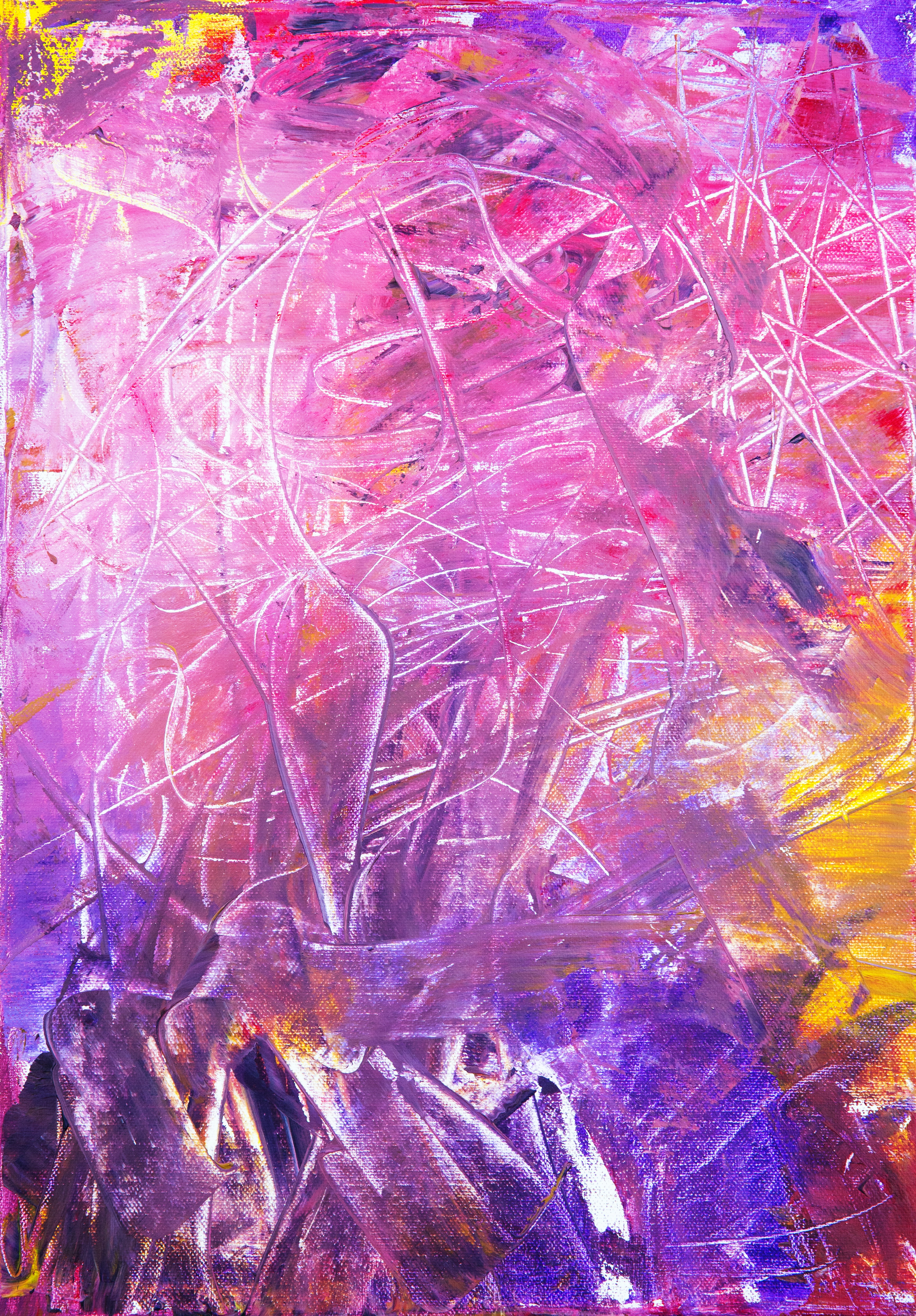 purple and brown abstract painting