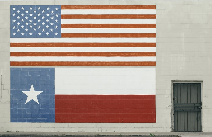 American Flag wall paint
