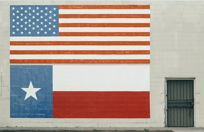 american flag wall paint texas teams background