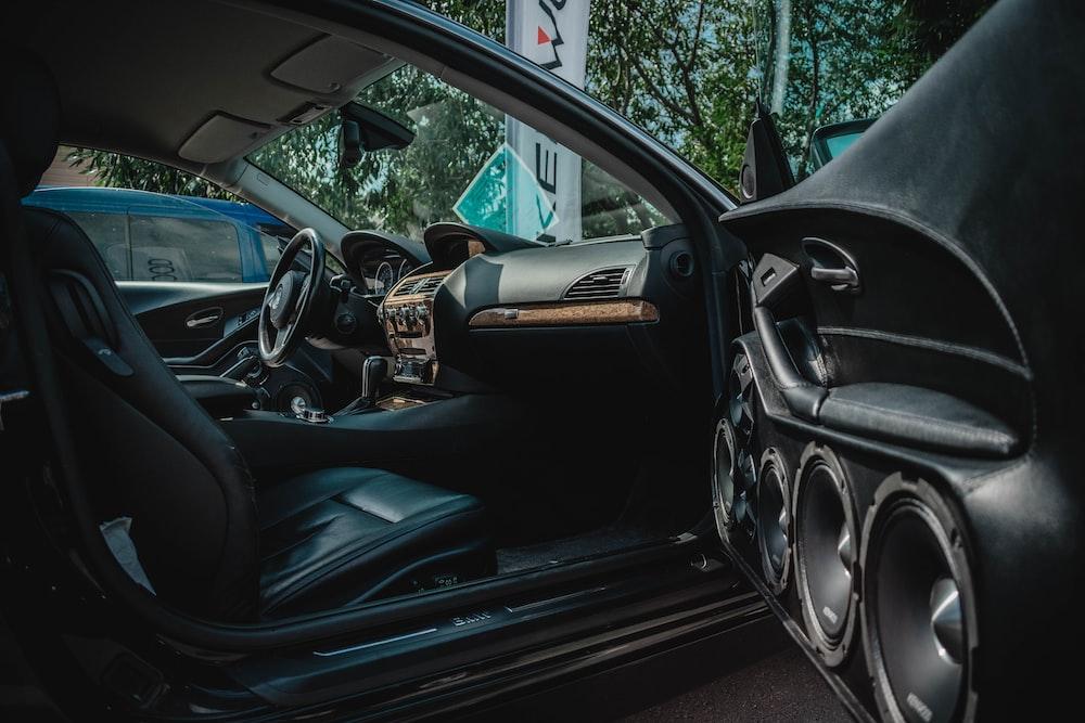 black car interior design