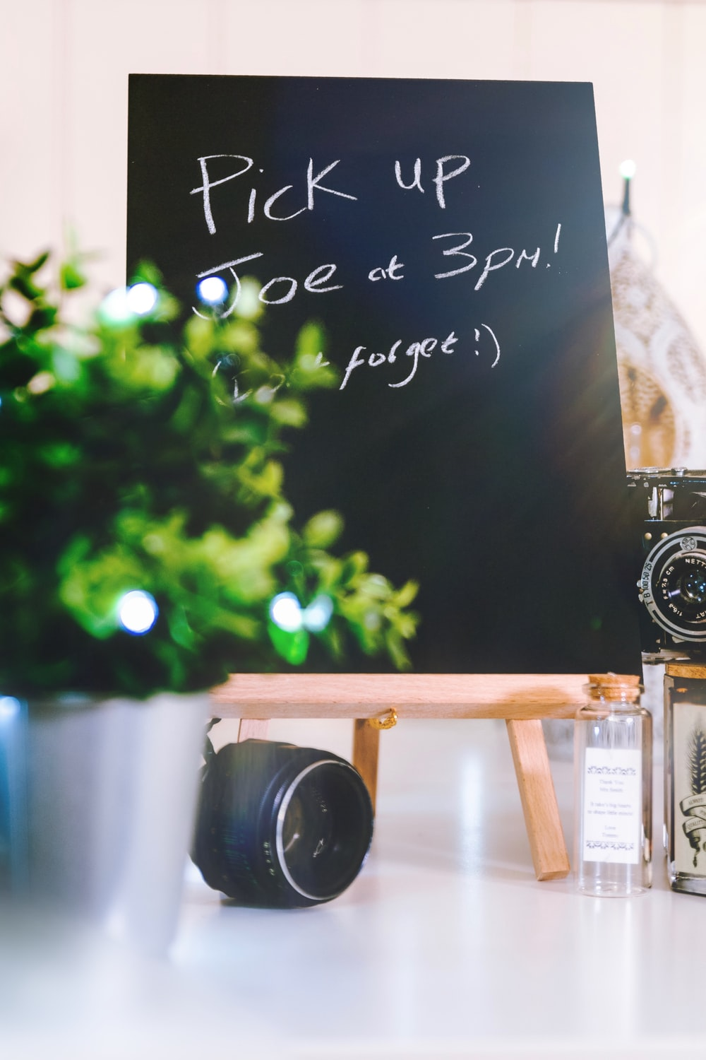 black chalkboard with stand