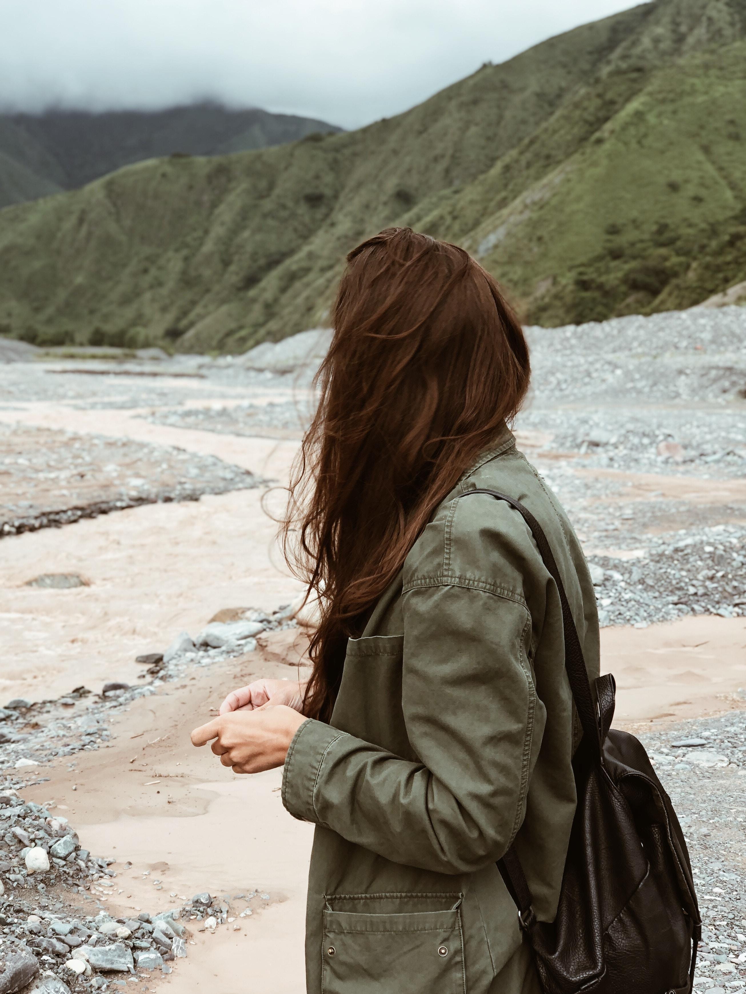 women's gray jacket