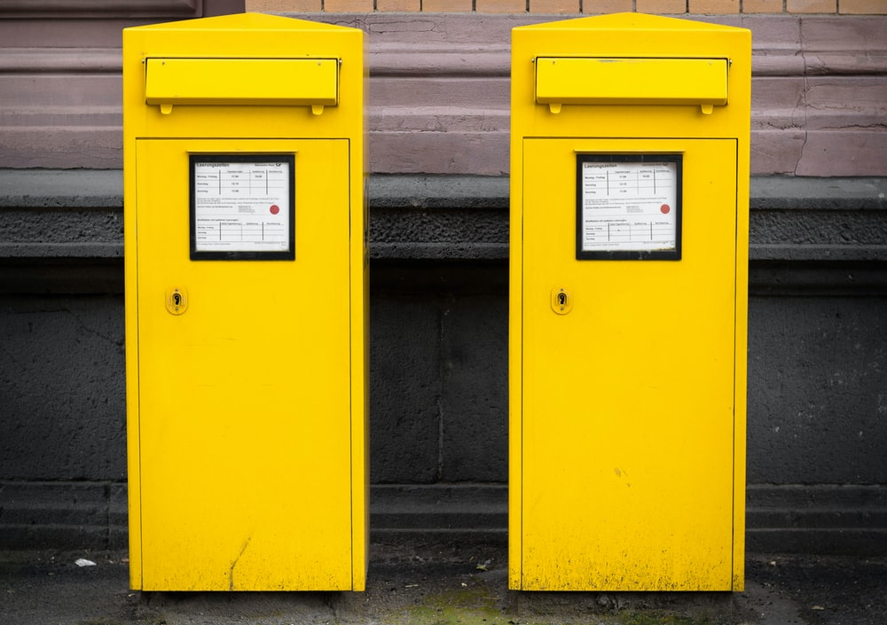 two yellow booths