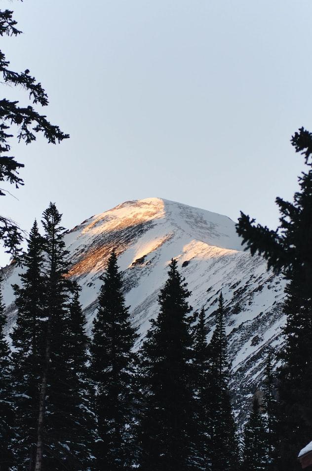 Snow-covered mountain in Breckenridge, CO