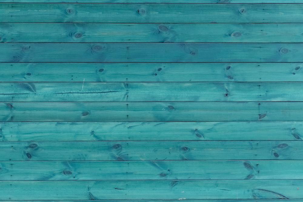 green wooden floor